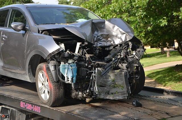 skadet bil